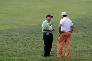 Phil Mickelson Butch Harmon U.S. Open - Preview Day 2