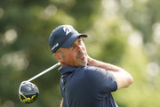 Matt Kuchar of the United States plays a tee shot during a practice round prior to the 120th U.S. Open Championship on September 15, 2020 at Winged Foot Golf Club in Mamaroneck, New York.