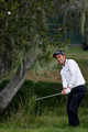 Edoardo Molinari of Italy plays a shot from the rough on the second hole during the first round of the 110th U.S. Open at Pebble Beach Golf Links on June 17, 2010 in Pebble Beach, California.