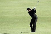 Phil Mickelson hits his second shot on the 14th hole during the first round of the 110th U.S. Open at Pebble Beach Golf Links on June 17, 2010 in Pebble Beach, California.