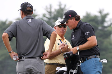 Phil Mickelson Butch Harmon U.S. Open - Round One