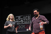 Amy Poehler and Horatio Sanz attends the UCB's 20th Annual Del Close Improv Marathon Press Conference at UCB Theatre on June 29, 2018 in New York City.