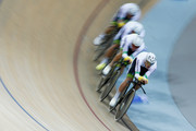 Jack Bobridge, Luke Davison, Alexander Edmondson and Miles Scotson of Cycling Team Australia compete in the silver medal Mens Team Pursuit race during day 2 of the UCI Track Cycling World Championships held at National Velodrome on February 19, 2015 in Paris, France.