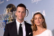 Tom Brady and Gisele Bündchen attend the UCLA IoES honors Barbra Streisand and Gisele Bundchen at the 2019 Hollywood for Science Gala on February 21, 2019 in Beverly Hills, California.
