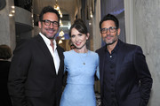 """Lawrence Zarian, Janie Bryant  and Gregory Zarian attend the UCLA Jonsson Cancer Center Foundation 24th Annual """"Taste For A Cure"""" Honoring President of Lionsgate Television Group, Sandra Stern at the Beverly Wilshire Hotel on April 26, 2019 in Los Angeles, California."""