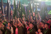 Fans react to the arrival of Heineken Ambassador Ruud Van Nistelrooy during the UEFA Champions League Trophy Tour presented by Heineken on April 4, 2018 in Phnom Penh, Cambodia.