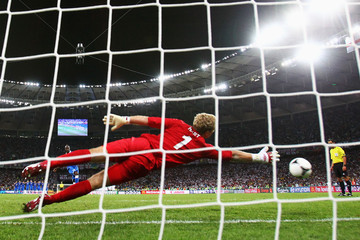Mario Balotelli Joe Hart UEFA EURO 2012 - Matchday 16 - Pictures Of The Day
