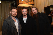 (L-R) Clayne Crawford, Aden Young and Ray McKinnon attend Day 1 of UGG at Village At The Lift 2013 on January 18, 2013 in Park City, Utah.
