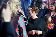 "Anna Boden is interviewed by Edith Bowman at the UK Gala Screening of Marvel Studios' ""Captain Marvel"" at The Curzon Mayfair on February 27, 2019 in London, England."