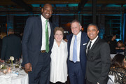 Board Member Dikembe Mutombo, President & CEO Caryl Stern, Chair member Steve Eaton, CNN International Anchor George Howell attend UNICEF's Evening For Children First at The Foundry At Puritan Mill on March 17, 2017 in Atlanta, Georgia.