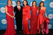 (L-R) Duchess of York Sarah Ferguson, CEO & President UNICEF USA Caryl Stern, Event Co-chair Jan Miller, Great Plains Regional Board and Event Co-chair Moll Anderson, and Emcee Brooke Burke-Charvet at the UNICEF Gala at The Ritz-Carlton, Dallas on February 3, 2018 in Dallas, Texas.
