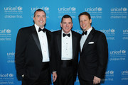 National Board Chair U.S. Fund for UNICEF Vince Hemmer (Glencoe), Sr. VP of Development U.S. Fund for UNICEF Barron Segar (NYC), and Midwest Regional Board Chair and National Board member for U.S. Fund for UNICEF Rob Brown attend the UNICEF Hope Gala on April 9, 2016 in Chicago, Illinois.