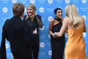 (L-R) UNICEF USA CEO & President Caryl Stern, UNICEF NextGen Founding Chair Jenna Bush Hager, Purvi Padia, and Sienna Miller attend the Launch of UNICEF's Project Lion at The Highline Hotel on May 30, 2018 in New York City.