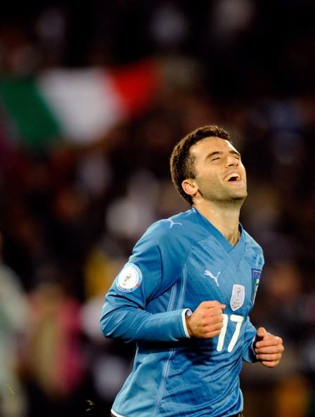 Giuseppe Rossi of Italy celebrates during the FIFA Confederations Cup match between USA and Italy at the Loftus Versfeld Stadium on June 15, 2009 in Pretoria, South Africa.