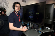 Geoffrey Arend plays Assassin's Creed Origins during E3 2017 at Los Angeles Convention Center on June 14, 2017 in Los Angeles, California.