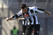 Andrea Lazzari of Udinese Calcio kicks a ball during the Serie A match between Udinese Calcio and AC Chievo Verona at Stadio Friuli on April 7, 2013 in Udine, Italy.