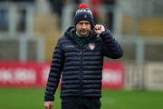 Geordan Murphy, the Leicester Tigers intermim head coach looks on during the Champions Cup match between Ulster Rugby and Leicester Tigers at the Kingspan Stadium on October 13, 2018 in Belfast, United Kingdom.