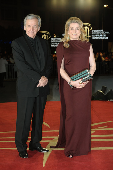 Actress Catherine Deneuve and Director Costa Gavras attend the Tribute to the French Cinema during the 10 th Marrakech Film Festival on December 4, 2010 in Marrakech, Morocco.