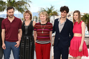 Actor Filippo Timi, director Valeria Bruni Tedeschi and actors Marisa Borini, Louis Garrel and Celine Sallette attend the 'Un Chateau En Italie' Photocall during The 66th Annual Cannes Film Festival at the Palais des Festivals on May 21, 2013 in Cannes, France.