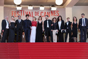 (L-R) Andre Wilms, Celine Sallette, Xavier Beauvois, Louis Garrel,  Marisa Borini, Valeria Bruni Tedeschi and Filippo Timi and Said Ben Said (R) attend the premiere for 'Un Chateau en Italie' during the 66th Annual Cannes Film Festival at Palais des Festivals on May 20, 2013 in Cannes, France.