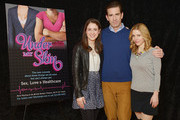 (L-R) Actors Allison Strong, Matt Walton and Kerry Butler attend the 'Under My Skin' cast meet & greet on March 24, 2014 in New York City.