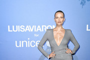 Natasha Poly attends the photocall at the Unicef Summer Gala Presented by Luisaviaroma at  on August 09, 2019 in Porto Cervo, Italy.
