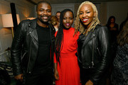 Lupita Nyong'o (C) and Opal Tometi (R) attend a special screening of 'Us' presented by Universal Pictures on November 06, 2019 in New York City.