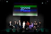 """(L-R) Marc Evan Jackson, Ted Danson, Kristen Bell, William Jackson Harper, Jameela Jamil, D'Arcy Carden and Manny Jacinto attend Universal Television's """"The Good Place"""" FYC panel at UCB Sunset Theater on June 17, 2019 in Los Angeles, California."""