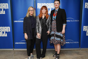 "(L-R) Amy Poehler, Natasha Lyonne and Leslye Headland attend Universal Television's ""Russian Doll"" FYC at UCB Sunset Theater on June 03, 2019 in Los Angeles, California."