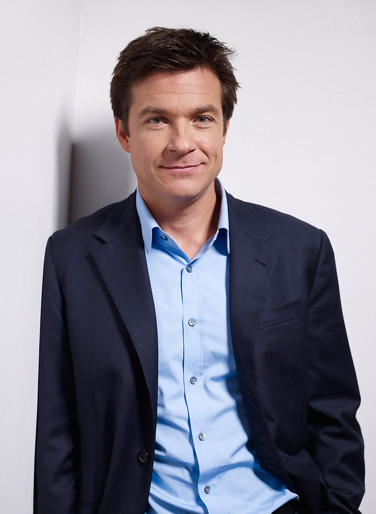 "Jason Bateman Celebrates Two Emmy Nods With Wife At Ozark: ""Up In The Air"" Portraits"