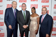 (L-R) Paul Tagliabue, Scott Smith, Tiffany Corselli and David Brooks attend the Up2Us Sports 2019 Gala to celebrate The Healing Power of Sports on May 29, 2019 in New York City.