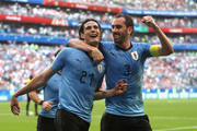 Diego Godin and Edinson Cavani Photos Photo