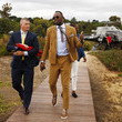 Usain Bolt Celebrities Arrive With Uber At Kennedy Oaks Day