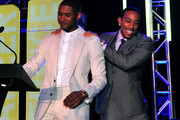 Usher and Ludacris attend the 15th Anniversary Celebration of Usher's New Look at the President's Circle Awards Luncheon on July 31, 2014 in Atlanta, Georgia.