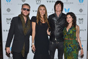 Michael Lillelund, Christina Sands, Austin Sands and Aileen Quintana attend the V.A.U.L.T. Art Basel Party on December 6, 2012 in Miami, Florida.