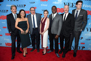 """(L-R) Gary Cole, Julia Louis-Dreyfus, Kevin Dunn, Anna Chlumsky, Sam Richardson, Matt Walsh, and Timothy Simons attend the """"VEEP"""" Season 4 New York Screening at the SVA Theater on April 6, 2015 in New York City."""