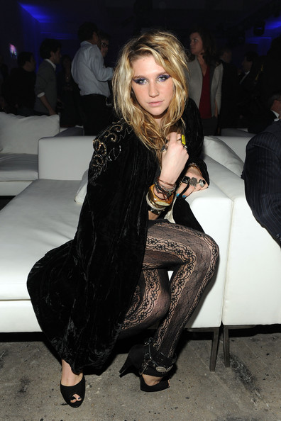 Singer Ke$ha attends the launch of VEVO, the world's premiere destination for premium music video and entertainmentat Skylight Studio on December 8, 2009 in New York City.