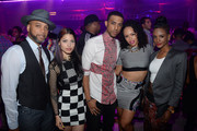 (L-R) Producer Kerry Brothers, Jr., Maxine Ashley, Mateo, Elle Varner, and guest attend the VEVO And Styled To Rock Celebration Hosted by  'Styled to Rock' Mentor Erin Wasson with Performances by Bridget Kelly & Cazzette on September 5, 2013 in New York City.