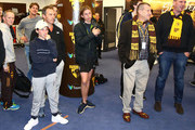 Alastair Clarkson, coach of the Hawks and Jeff Kennett, President of the Hawthorn Football Club look on in the rooms after the VFL Grand Final match between Casey and Box Hill at Etihad Stadium on September 23, 2018 in Melbourne, Australia.