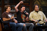 "(L-R) ""That Metal Show"" hosts Jim Florentine, Don Jamieson and Eddie Trunk attend the taping of VH1 Classic Presents ""That Metal Show: Anvil Special"" at Hard Rock Cafe, Times Square on September 28, 2009 in New York City."