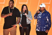 Busta Rhymes, Angie Martinez and Timbaland performs onstage during the VH1 Hip Hop Honors: All Hail The Queens at David Geffen Hall on July 11, 2016 in New York City.