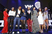 Tara Wallace, Yandy Smith, Rich Dollaz, Tahiry, Joe Budden, Erica Mena, Cyn Santana, and Amina Buddafly appear at the VH1 'Love & Hip Hop' Season 4 Premiere at Stage 48 on October 28, 2013 in New York City.