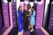 Honoree Ryan Murphy (2nd L) poses with Janet Mock, Dominique Jackson and Mj Rodriguez during VH1 Trailblazer Honors 2018 at The Cathedral of St. John the Divine on June 21, 2018 in New York City.