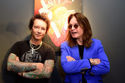"""(L-R) MusicanArtist Billy Morrison and musican Ozzy Osbourne attend an VIP Opening Reception For """"Dis-Ease""""  An Evening Of Fine Art With Billy Morrison at Mouche Gallery on September 2, 2015 in Beverly Hills, California."""
