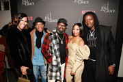 (L-R) Lala Milan, Kel Mitchell, Lil Rel Howery, Bresha Webb and Michael Blackson attend VIP Screening of Tyler Perry's A Fall From Grace with Bresha Webb at Neuehouse in Los Angeles on January 09, 2020 in Hollywood, California.