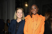 Marthe Keller and Kiki Layne attend the Valentino Haute Couture Spring/Summer 2020 show as part of Paris Fashion Week on January 22, 2020 in Paris, France.