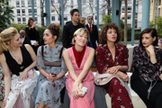 (L-R) Katheryn Winnick,Matilde Gioli,Valeria Bruni Tedeschi and Valeria Golino attend the Valentino show as part of the Paris Fashion Week Womenswear Fall/Winter 2017/2018 on March 5, 2017 in Paris, France.