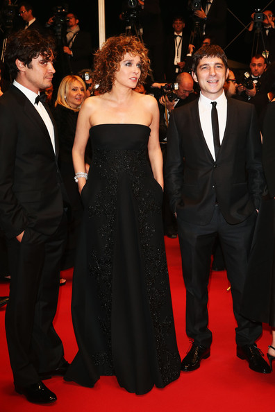 'Miele' Premieres in Cannes [a touch of sin,red carpet,carpet,dress,suit,formal wear,clothing,premiere,event,flooring,fashion,valeria golino,libero de rienzo,riccardo scamarcio,miele premieres,l-r,cannes,france,premiere of miele,palais des festivals]