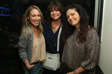 Valerie Bertinelli Restaurateur Geoffrey Zakarian Visits the SiriusXM Studios for 'Food Talk'