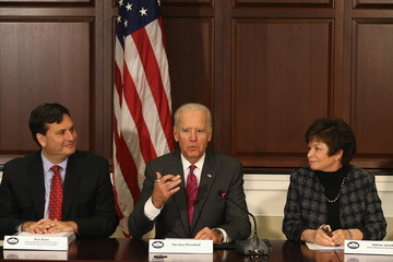 Valerie Jarrett Joe Biden and Ron Klain Meet with Aid Groups